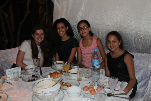 Three Moroccans with an American student