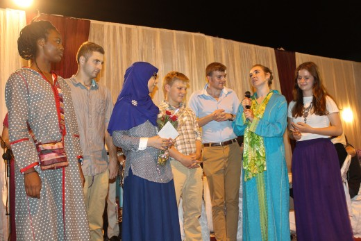 Students on graduation day at the school