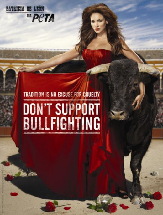 Miss Panama Patricia De Leon's anti bullfighting ad for PETA