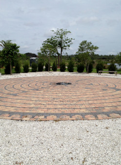Another photo shot of The Labyrinth at the Naples Botanical Gardens.  It is of classical Greek style.
