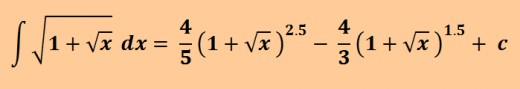 Antiderivative of sqrt(1 + sqrt(x))