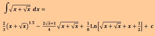 Antiderivative of sqrt(x + sqrt(x))