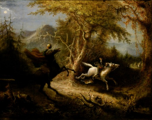 Illustration by John Quidor of the Headless Horseman