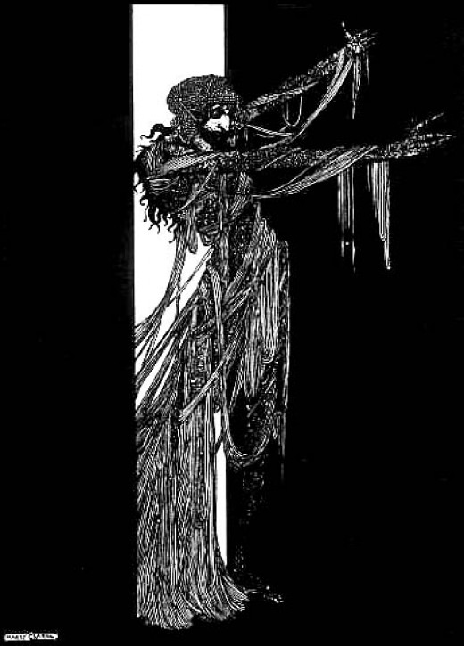 Illustration by Harry Clarke for The Fall of the House of Usher
