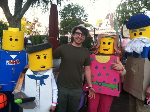 We thought that it was so cool that a family dressed up as lego people!