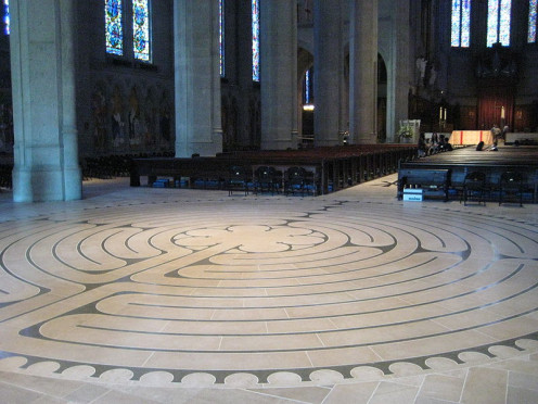 Grace Cathedral labyrinth. (San Francisco)