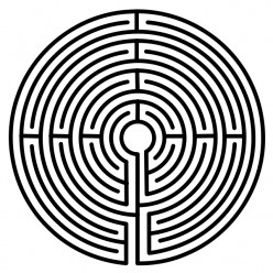 Typical medieval labyrinth pattern.