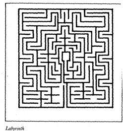 Although the most usual pattern of labyrinths is round, they can also be square in shape and pattern.