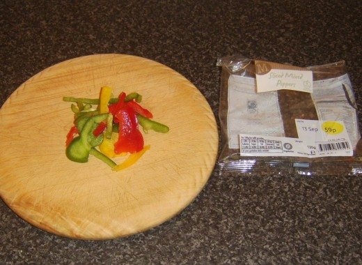 Sliced mixed bell peppers