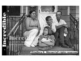 Rose Marie Siggins with her parents and brother