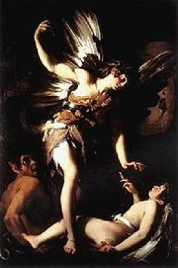Sacred Love Versus Profane Love (1602–03) by Giovanni Baglione (from http://en.wikipedia.org)