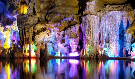 Reedflute cave in China is very colorful and that makes it amazing...