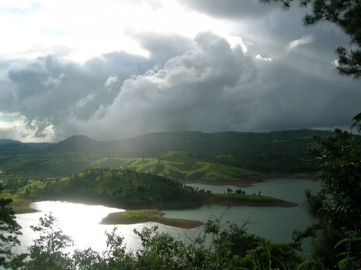 Umiam Lake gets pretty dramatic during the monsoon season.