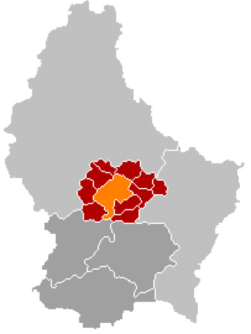 Map location of Mersch, Luxembourg