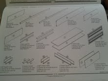 The instructions for the bed.