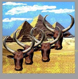 A pharaoh's herd in Egypt was enormous. We cannot begin to imagine how many days it would have taken to drive it to East Africa