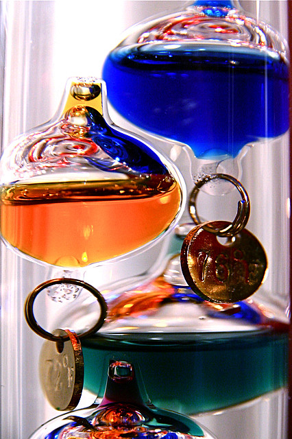 The Galileo thermometer is an appealing small geeky gift.