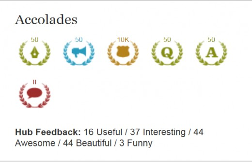 My milestones I have achieved on Hubpages