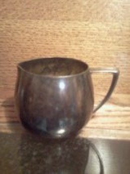 A simple pewter cup