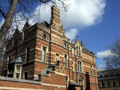 Keble College brickwork, Oxford, England