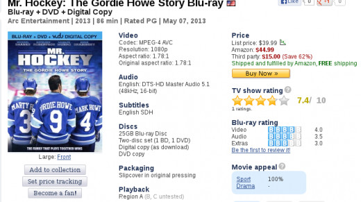 Ice Hockey Movies (Blu-Ray) - Mr. Hockey