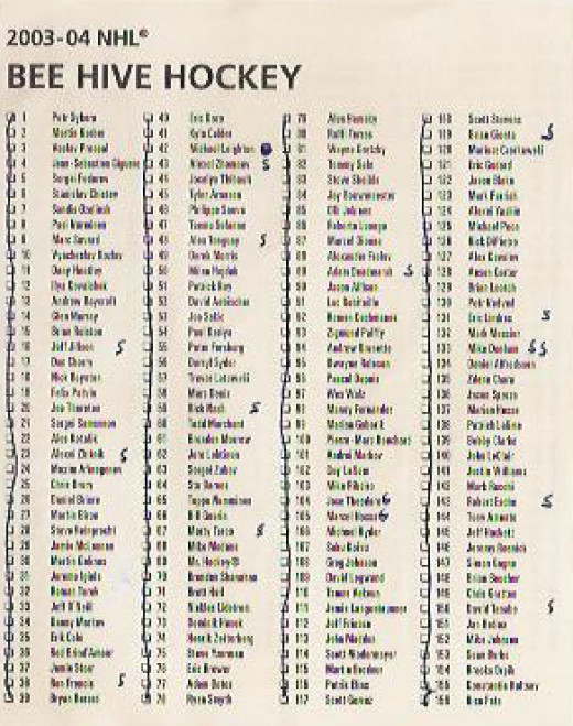 2004 Bee-Hive checklist cards 1 - 156