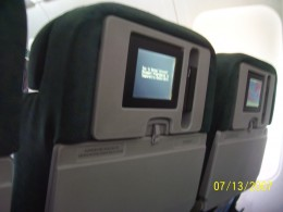 Personal TVs within Frontier's fleet. Available on all seats.
