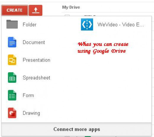 Google Docs are also available within Google Drive