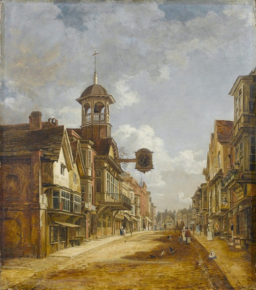 Guildford High Street, Charles Deane c.1828