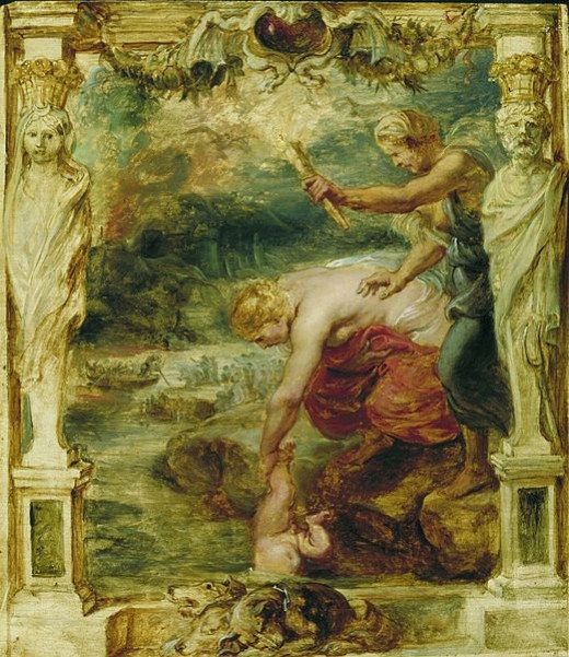 Thetis dipping the infant Achilles into the River Styx