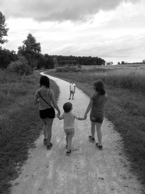 Hiking with the family. photo by AMB