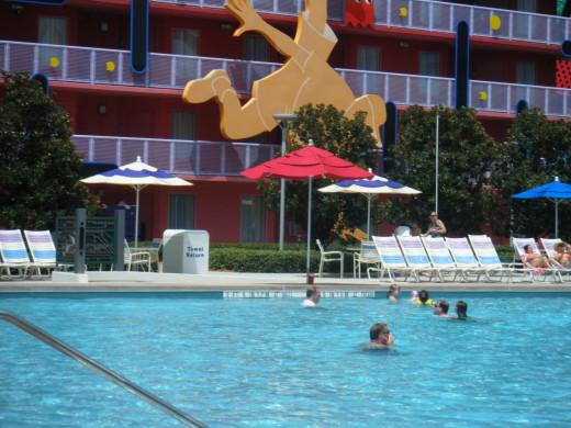 One of the many pools associated with the value resorts