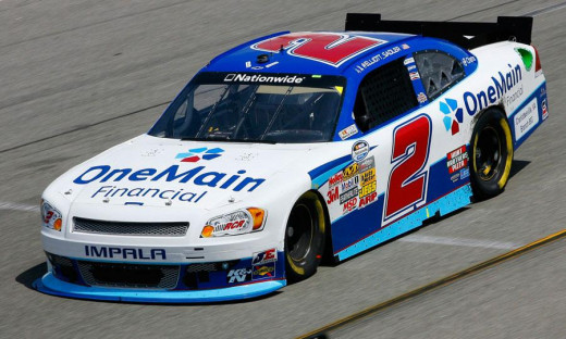 The Nationwide logo appears prominently on every single car's windshield