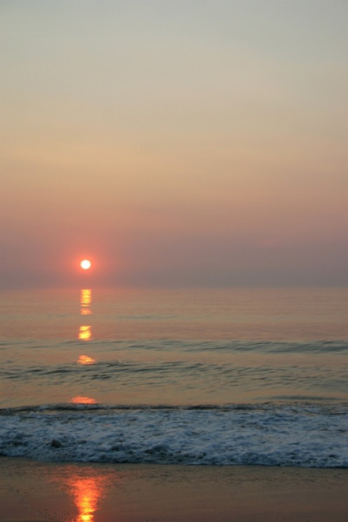 Sun Rise Nags Head Beach On North Carolina Outer Banks
