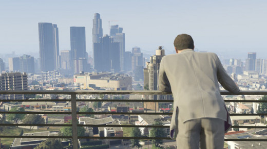 A bird's eye view of Los Santos.