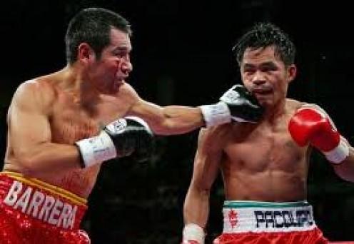 Manny Pacquiao fought Marco Antonio Barrera twice winning both bouts.