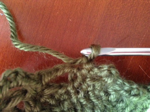 Slip knot and fasten.