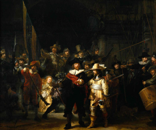 """The Night Watch"" by Rembrandt."