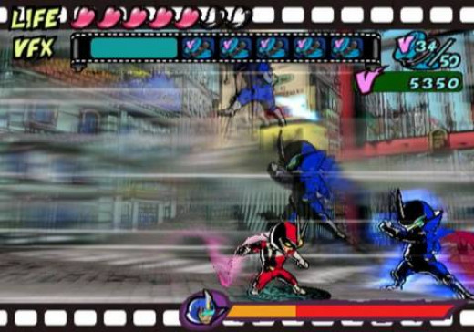 Viewtiful Joe picks up some new VFX powers by sparring with Captain Blue