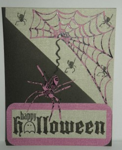 Homemade Halloween Card: A Spider and her Web
