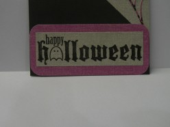 Happy Halloween layers on card