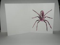Larger spider inside card