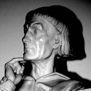 Bust of the Norman-Welsh scribe-historian Gerald of Wales (see above)