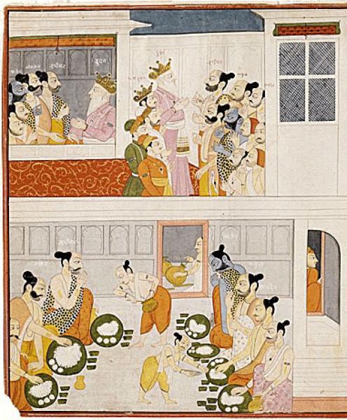 The Pandavas in Drupada Court