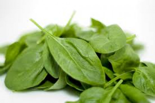 Spinach, a wonderful source of Iron