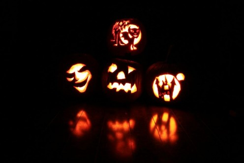 Carving pumpkins with my kids, priceless!
