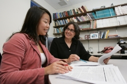 UCLA psychologists Traci Mann (right) and Janet Tomiyama. In 2007 they analyzed 31 long-term studies on dieting.