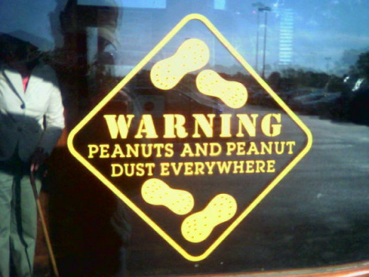 Peanut Warning Sign