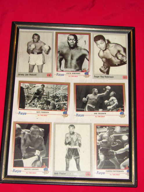 Eight boxing cards of classic fights and fighters.  Their are several companies that make cards for the sport of boxing.