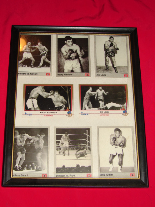 Great boxers from the 1900's adorn my walls. The glass covers keep them from fading or getting damaged in any way.